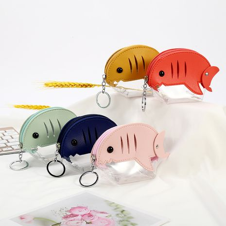 new small fish mini storage bag cute coin purse transparent pvc coin bag wholesale NHAE247622's discount tags