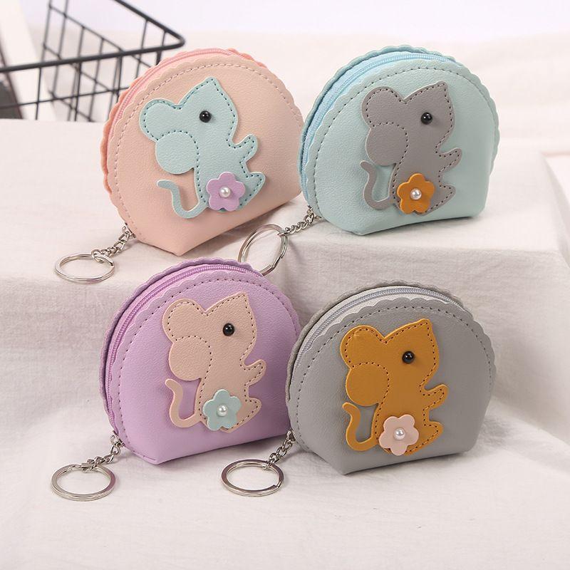 New cartoon cute mouse coin purse ladies storage bag mini coin bag wholesale NHAE247623