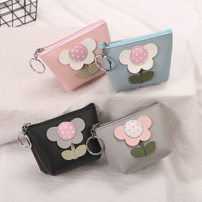 2020 new Korean creative small flower coin purse ladies coin bag mini wallet wholesale NHAE247624