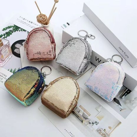 Korea hot style ladies sequin coin purse lipstick storage bag wallet wholesale NHAE247625's discount tags