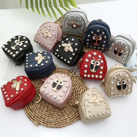 new creative rivet owl bee coin purse storage coin bag mini wallet wholesale NHAE247630's discount tags