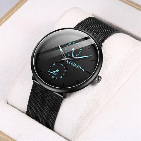 Reloj de cuarzo binocular para hombre con puntero de color, reloj con cinturón de malla, gran oferta al por mayor NHHK247645's discount tags