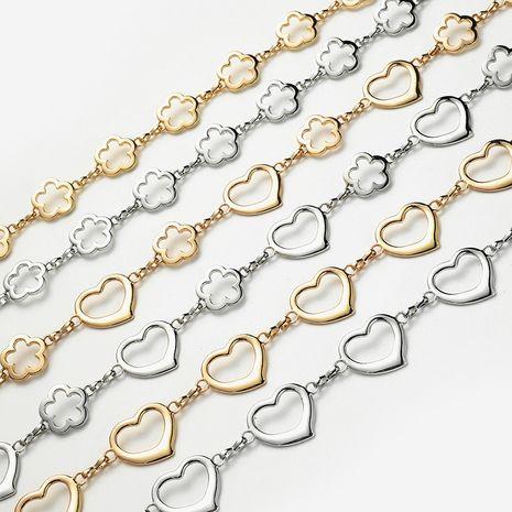 robe décorative en forme de fleur d'amour de la mode des femmes de chaîne de taille en métal avec la petite ceinture de pendentif d'alliage de boule NHPO247667's discount tags