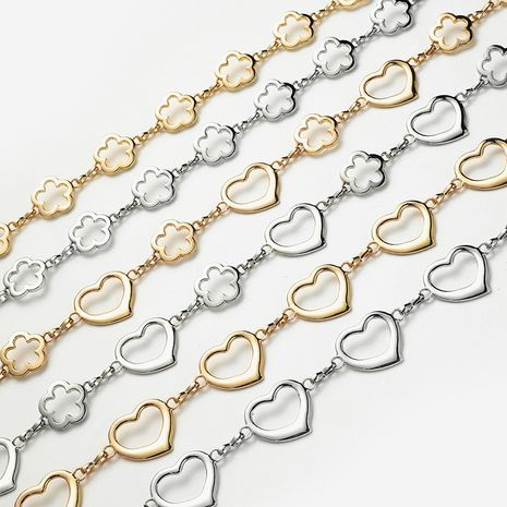 metal waist chain women's fashion love flower shape decorative dress with small ball alloy pendant belt NHPO247667's discount tags