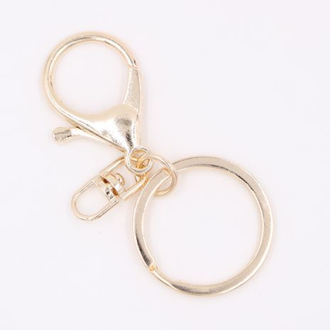 Fashion alloy keychain lobster clasp chain key ring three-piece jewelry accessories  NHCL247673's discount tags