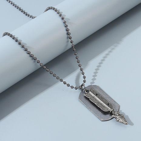 nueva línea de tendencia collar de flecha de plumas de personalidad salvaje NHPS247680's discount tags
