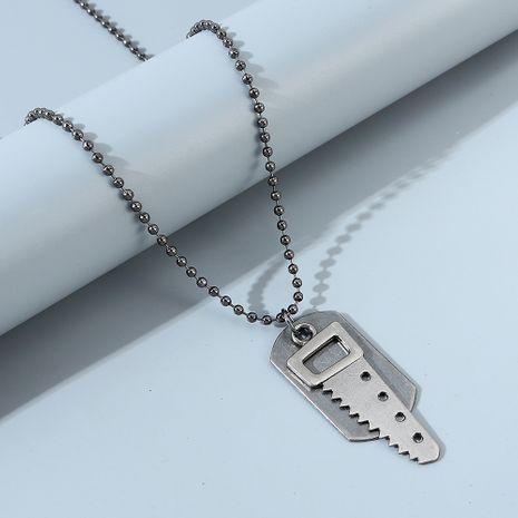 moda personalidad creatividad popular pequeño collar de sierra NHPS247681's discount tags