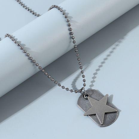 collar de estrella de cinco puntas de moda de personalidad simple NHPS247684's discount tags