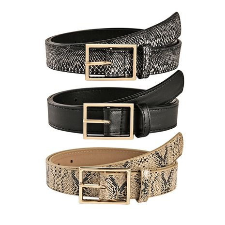 new fashion Japanese buckle casual decoration snake pattern belt wholesale NHPO247691's discount tags