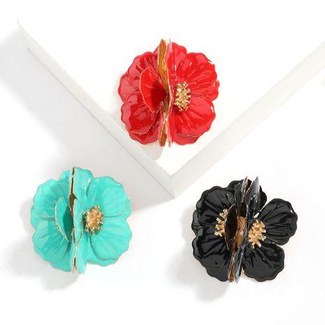 exagéré grande marque en alliage d'huile dégoulinant de fleurs boucles d'oreilles fille coeur art boucles d'oreilles en gros NHJE247700's discount tags