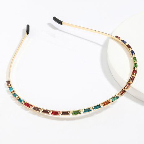 Fashion alloy diamond rhinestones Korean wash headband  wholesale NHJE247706's discount tags