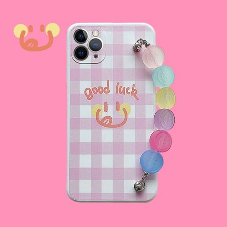 powder plaid bracelet anti-fall mobile phone case for iPhone11pro Max Apple se2 soft shell 8plusXR NHFI247495's discount tags