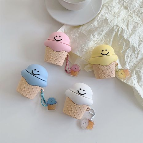 Cute smiley ice cream protective cover for Apple Airpods Pro Bluetooth headset Airpods 1 2 generation NHFI247528's discount tags