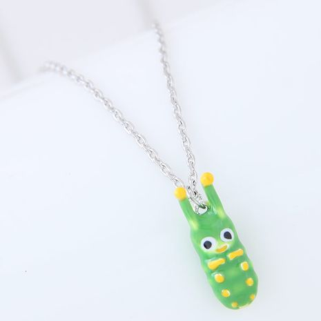 Korean fashion sweet OL caterpillar exquisite necklace for women NHSC247715's discount tags