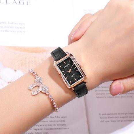 Estudiantes de moda casual estilo universitario simple rectangular de cuarzo para mujer pulsera reloj con cinturón NHSS247717's discount tags