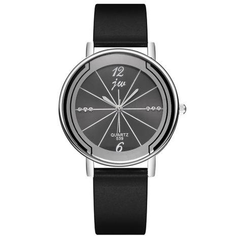 Reloj deportivo para estudiantes de estilo universitario con correa de silicona y carcasa negra de pistola NHSS247720's discount tags
