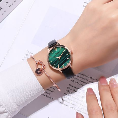 Fashion simple marble surface belt sweet style thin belt quartz ladies watch  NHSS247721's discount tags