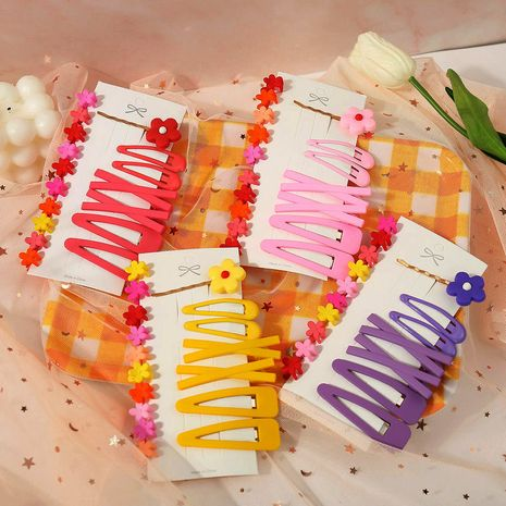 Fashion simple girls side word clip headdress hairpin wholesale NHPJ247722's discount tags