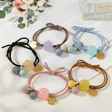 Korean girls fashion candy color rubber band headdress hair tie NHPJ247727's discount tags