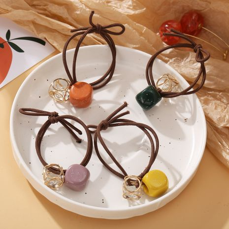 cute girls ponytail hair rope rubber band head rope bracelet dual-use NHPJ247728's discount tags