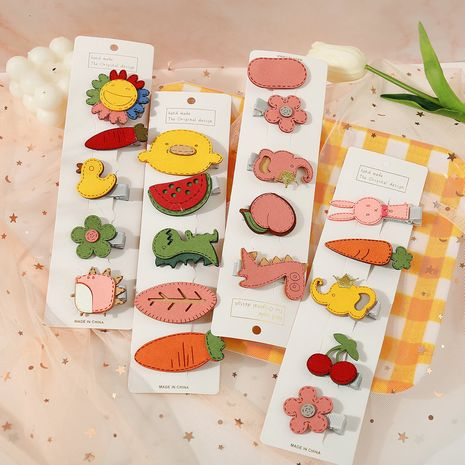 Korea cute children's broken hair clip headdress hairpin wholesale NHPJ247729's discount tags