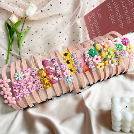 Girls princess cute toothed anti-skid flower pineapple simple headbands headdress NHPJ247731's discount tags