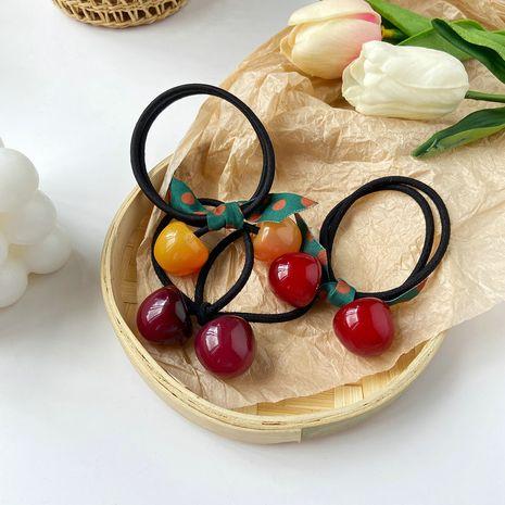Cherry women's rubber Korean cute bow hair rope head flower hair ring  NHPJ247732's discount tags