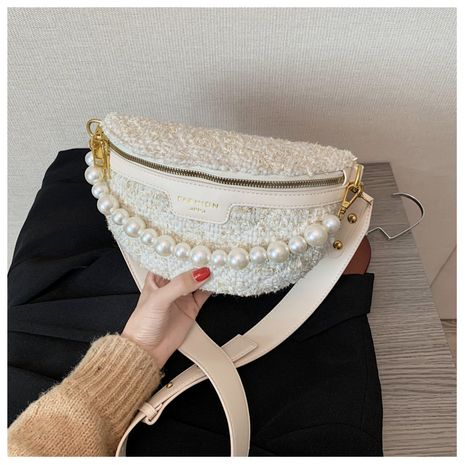 new trendy fashion one-shoulder cross-body woolen ladies small waist bag  NHTC247749's discount tags