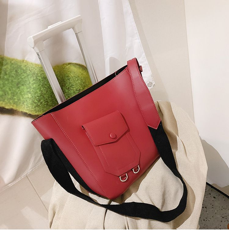 new trendy fashion wild wide strap shoulder messenger bucket largecapacity womens handbags  NHTC247772