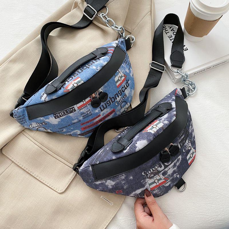 Tide brand men's canvas shoulder messenger casual wild small shoulder bag   NHJZ247846