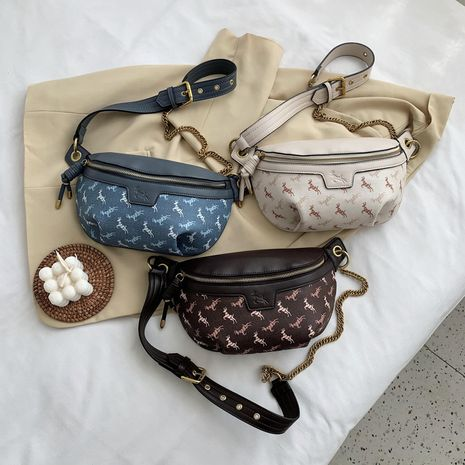 new wild casual simple shoulder messenger tide brand ladies small waist bag NHJZ247863's discount tags