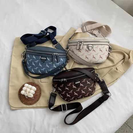 new wild casual simple small shoulder messenger tide brand ladies small waist bag   NHJZ247879's discount tags