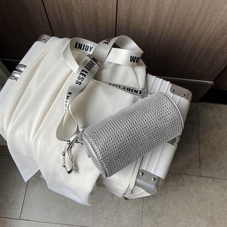 new trendy wild messenger wide shoulder strap fashionable one-shoulder bright diamond women's bag NHJZ247896's discount tags