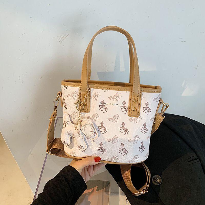 new niche basket portable bucket bags fashion trendy printed messenger womens bag NHJZ247909