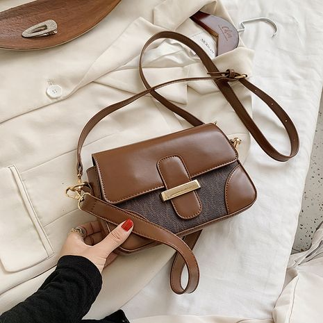 new Korean messenger simple small square retro small bag for women  NHJZ247911's discount tags