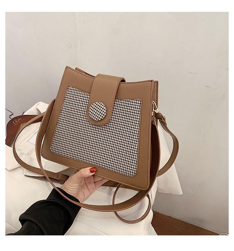 new trendy fashion messenger small square retro ladies oneshoulder small bag NHTC247945