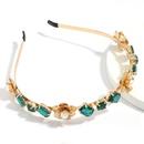 Accessoires de cheveux pour femmes en alliage de fleurs de perles en verre incrust de diamants NHJE247991