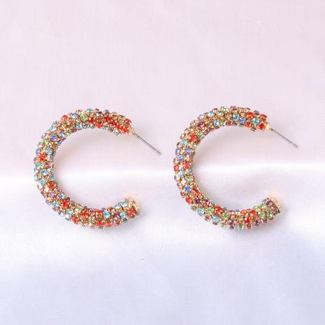 geometric C-shaped metal retro diamond earrings fashion all-match women's alloy earrings jewelry NHJJ247993's discount tags