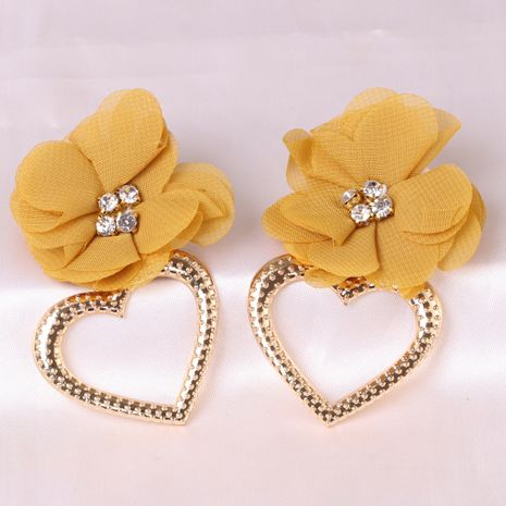 Fashion exaggerated heart-shaped alloy brand women's flower earrings  NHJJ247994's discount tags
