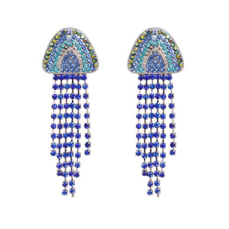 Fashion hot-selling jellyfish women's tassel alloy earrings accessories NHJJ247996's discount tags