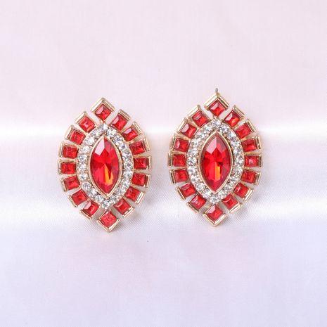 Boucles d'oreilles pour femmes en alliage d'olive en cristal rétro NHJJ247997's discount tags