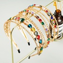 new simple multilayer full diamond rhinestone pattern Korean hair accessories bridal headband NHLN248000