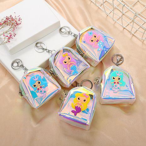 new Korean spring cartoon colorful fashion mermaid storage coin purse NHAE248002's discount tags