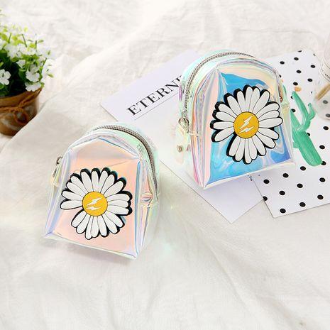 Korean small daisy cute ladies color cartoon storage coin bag wholesale NHAE248003's discount tags