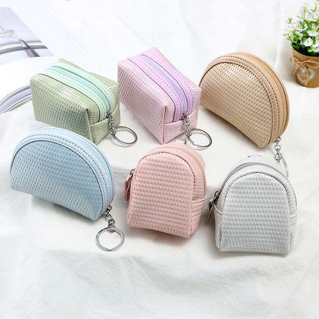 Korea hot-saling simple coin purse ladies mini card bag wallet wholesale NHAE248004's discount tags