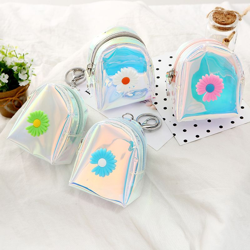 Hotselling new small daisy lady cute coin purse color cartoon student storage coin bag wholesale NHAE248005