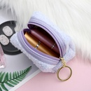 Fashion student cute eyes plush sequin expression cartoon storage coin purse wholesale NHAE248008