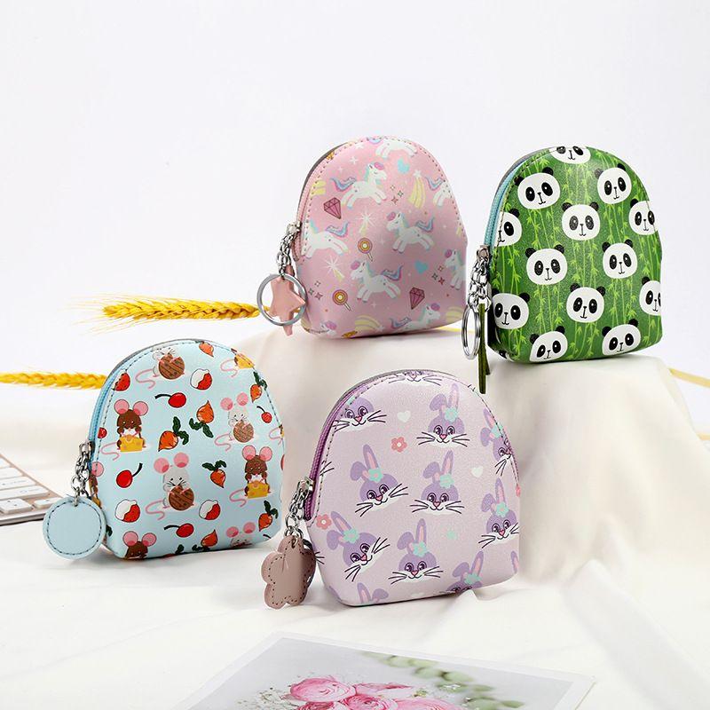 new cartoon unicorn panda student cute mini storage coin purse wholesale NHAE248011