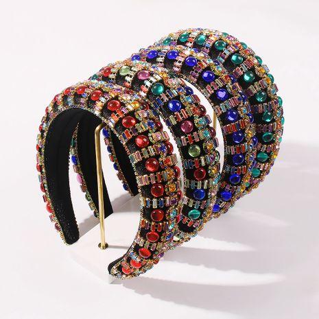 fashion baroque thick sponge women's hot sale diamond hair accessories wholesale NHMD248031's discount tags