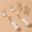 hei verkaufte Perle neuen Trend Liebe Schmetterling Legierung Ohrringe fr Frauen Grohandel NHMD248039